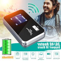 Portable 4G LTE LCD WIFI Wireless Router Mobile Modem 3560mA