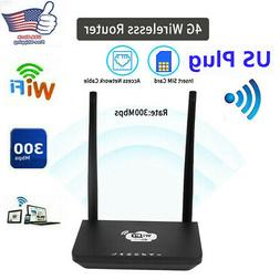 Portable 4G LTE Wireless Router Mobile Wifi 300Mbps Hotspot