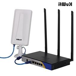KuWFi 300mbps High Power Wireless Router USB Port with OpenW