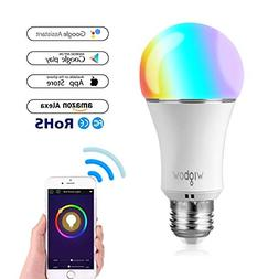 Smart Bulb, Wigbow WI-FI Led Light Bulb Color Changing 5000K