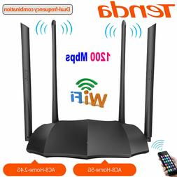 TENDA AC8 Dual Band LED Gigabit Router AC1200 2.4G Wireless