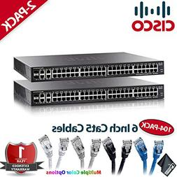 Two Cisco SG350-52MP 52-Port Gigabit Max-PoE Managed Switche