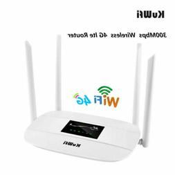 Unlocked 4G LTE Wireless Router 300Mbps Wifi Router with sim