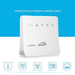 Unlocked 300Mbps 4G LTE Wireless Router 3G Mobile Wifi Hotsp