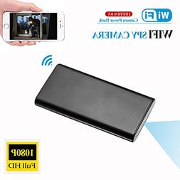 KAMRE Upgrade 1080P 10000mAh Portable WiFi Hidden Power Bank
