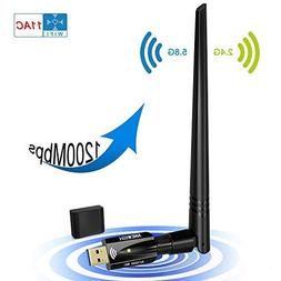 USB Wifi Adapter 1200Mbps, ANEWISH Wireless Adapter USB3.0 D