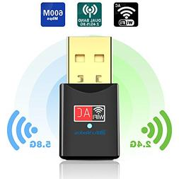 Blueshadow USB WiFi Adapter - Dual Band 2.4G/5G Mini Wi-fi a