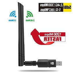 USB Wifi Adapter Wireless internet for PC - 1200Mbps Best Du