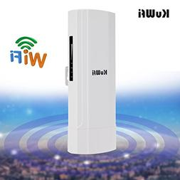 KuWFi WDS Waterproof 300Mbps Wireless Bridge Outdoor CPE Poi