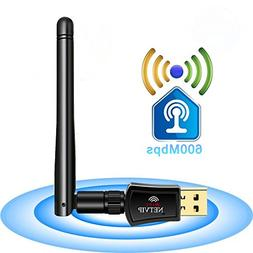 600Mbps WiFi Adapter USB Wireless Network Card Dual Band  Hi