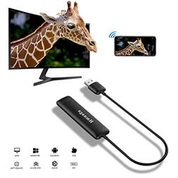 5G WiFi Display Dongle, Zenic Smart Phone to HDMI Adapter, F