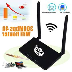 WiFi Router 4G LTE SIM 300Mbps Home Wireless Router CPE 2.4G