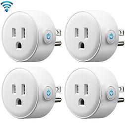 GMYLE 4 Pack Wifi Smart Plug Mini Outlet Power Control Socke