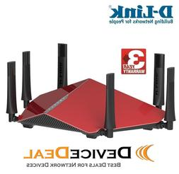 D-Link Wireless AC3200 Tri-Band Gigabit Router with SmartCon