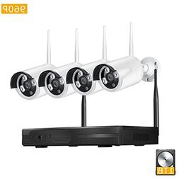 Home Security System . GXA 4PCS Megapixel 960P Wireless Outd