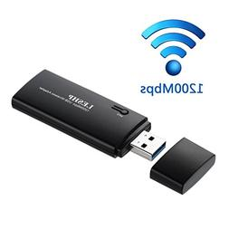LESHP Wireless USB 3.0 Wifi Adapter with WPS, 1200Mbps 11AC
