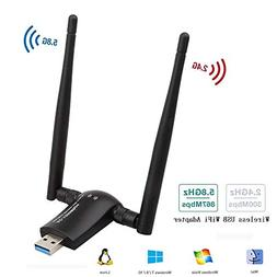 1200Mbps Wireless USB WiFi Adapter,Cofuture 802.11AC Dual Ba