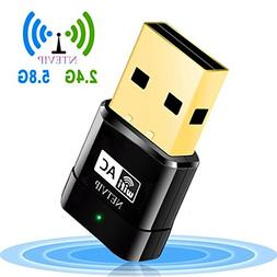 USB WiFi Adapter 600Mbps Wireless Network Card Dual Band 2.4